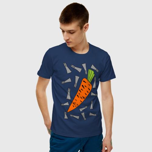 Мужская футболка хлопок морковка и кролик парная Фото 01