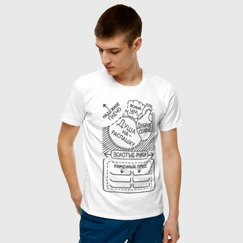 Мужская футболка хлопок Из чего состоит мужчина Фото 01
