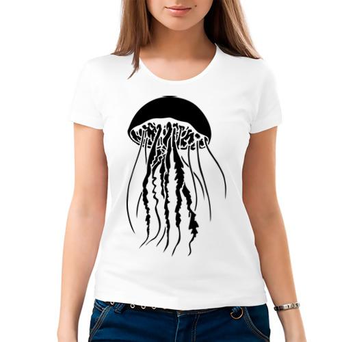 Женская футболка хлопок  Фото 03, Медуза