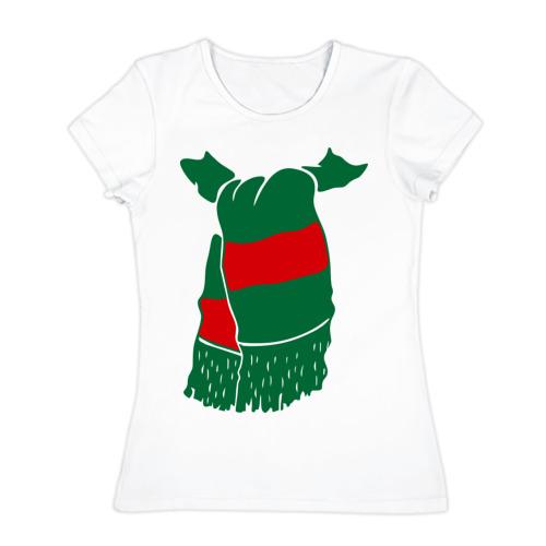 Женская футболка хлопок Локомотив шарф