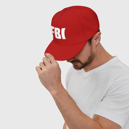 Кепка снепбек с прямым козырьком FBI Фото 01