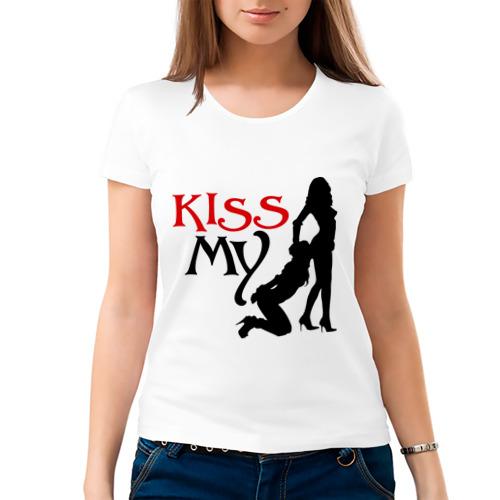 Женская футболка хлопок  Фото 03, Kiss my