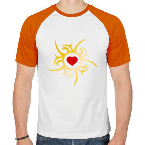 Мужская футболка реглан  Фото 01, Сердце в золотой оправе