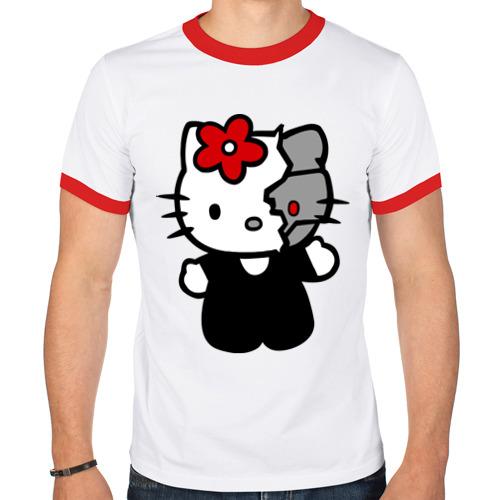 Мужская футболка рингер  Фото 01, Kitty терминатор