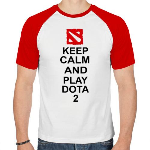 Мужская футболка реглан  Фото 01, Keep calm and play dota 2
