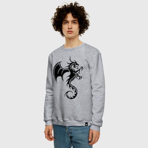 Мужской свитшот хлопок Крылатый дракон Фото 01