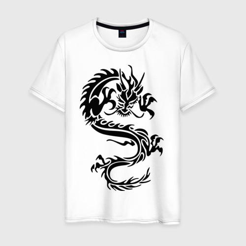 Мужская футболка хлопок Дракон орнамент Фото 01