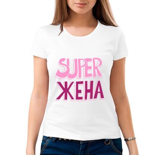 Женская футболка хлопок  Фото 03, Супер жена