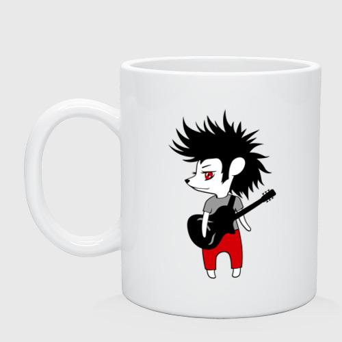 Кружка Ежик рок музыкант