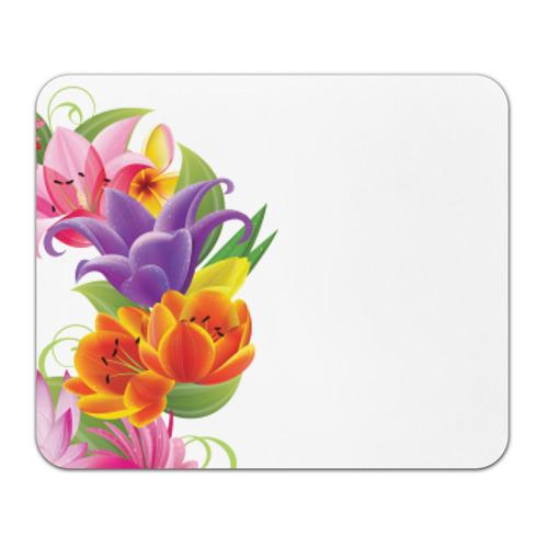 Коврик прямоугольный 8 марта из цветов