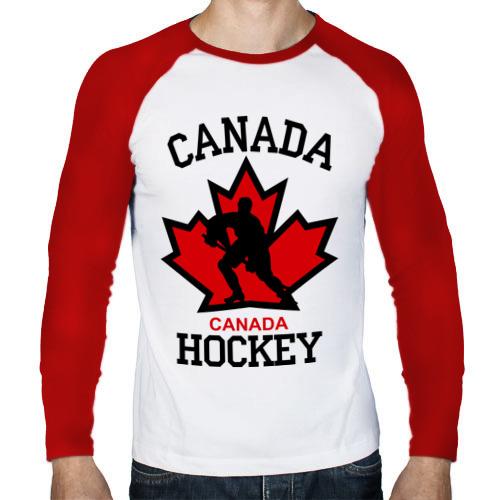 Мужской лонгслив реглан  Фото 01, Канада хоккей (Canada Hockey)