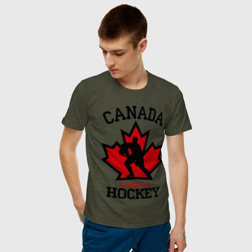 Мужская футболка хлопок Канада хоккей (Canada Hockey) Фото 01