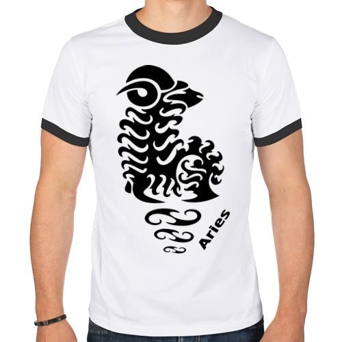 Мужская футболка рингер  Фото 01, Овен