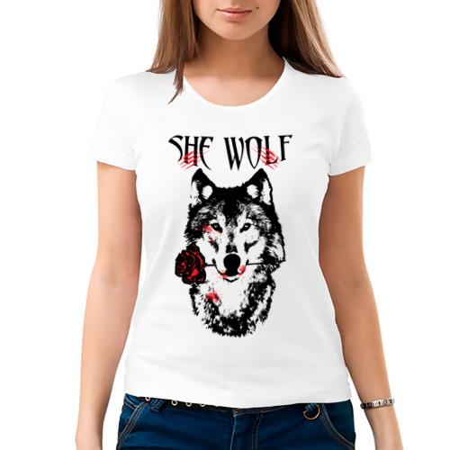 Женская футболка хлопок  Фото 03, Модный дизайн - Настоящая Волчица