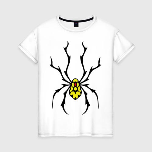 Женская футболка хлопок Паук с точками