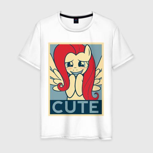 Мужская футболка хлопок Fluttershy cute