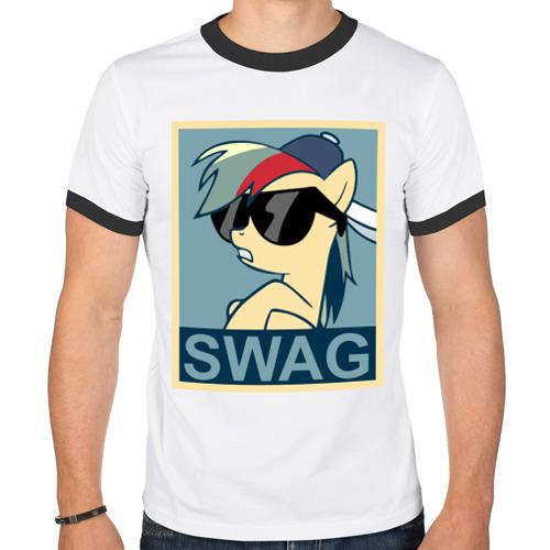 Мужская футболка рингер Rainbow Dash swag от Всемайки
