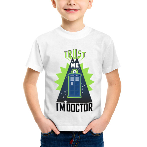 Детская футболка синтетическая Верь мне, я доктор от Всемайки