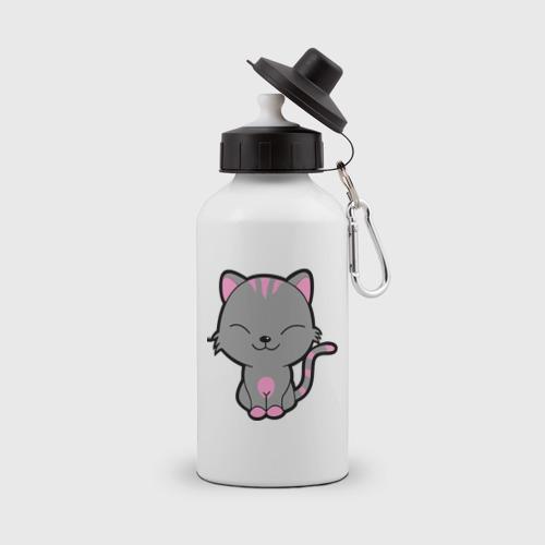 Бутылка спортивная Довольный кот