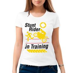 stunt rider in training