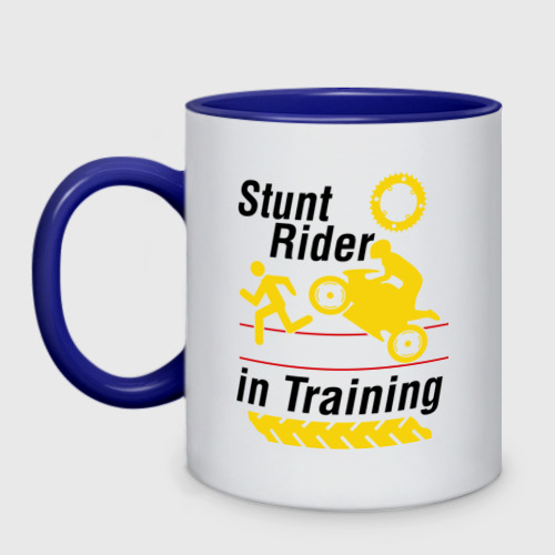 Кружка двухцветная stunt rider in training Фото 01