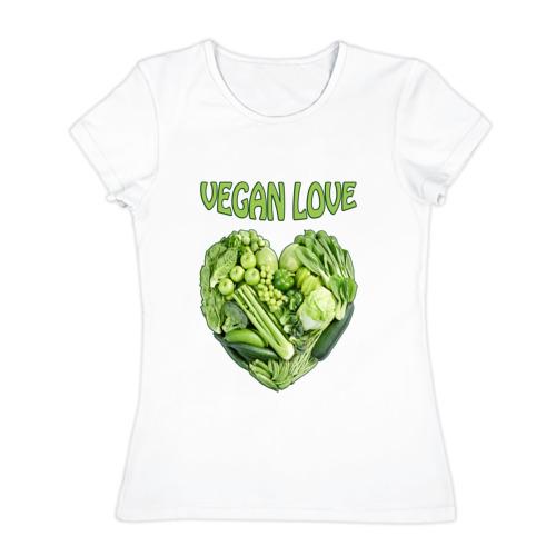 Женская футболка хлопок  Фото 01, Вегетарианцы - Я никого не ем!