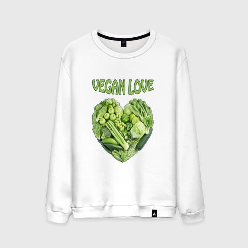 Мужской свитшот хлопок  Фото 01, Вегетарианцы - Я никого не ем!