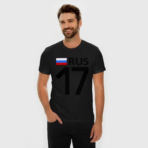 Мужская футболка премиум Республика Тува (17) Фото 01
