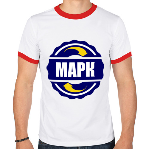 Мужская футболка рингер  Фото 01, Эмблема - Марк