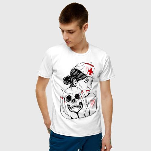 Мужская футболка хлопок Тату медсестра Фото 01