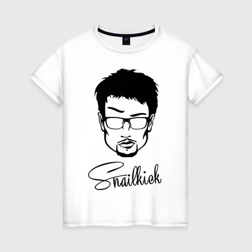 Женская футболка хлопок Snailkick