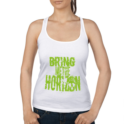 Женская майка борцовка  Фото 01, Bring me the horizon logo