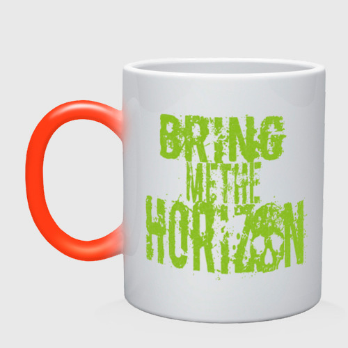 Кружка хамелеон Bring me the horizon logo