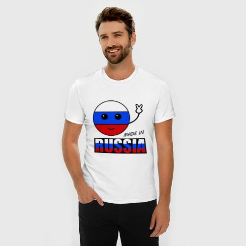 Мужская футболка премиум  Фото 03, Маде ин Россия