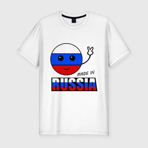 Мужская футболка премиум  Фото 01, Маде ин Россия