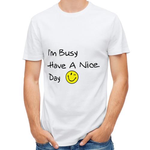 Мужская футболка полусинтетическая  Фото 01, I'm busy
