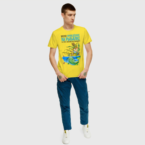 Мужская футболка хлопок Время на рыбалке в счёт жизни не входит (двухсторонняя) Фото 01