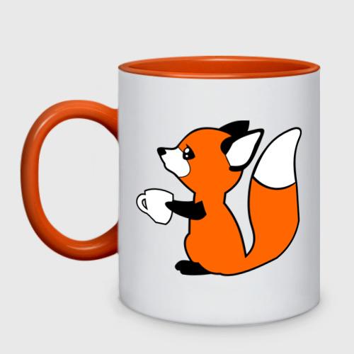 Лисичка с чашкой