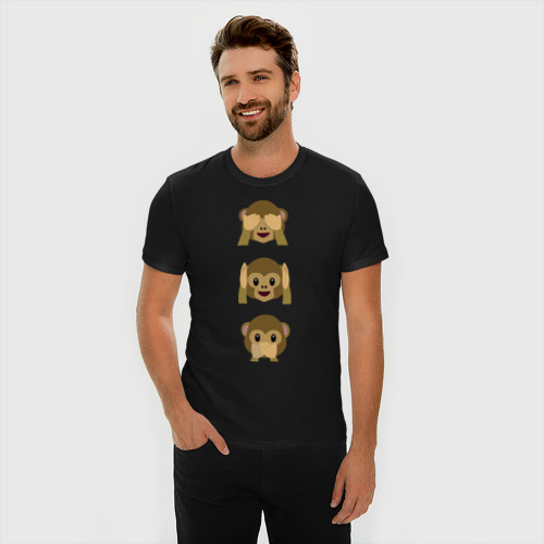 Мужская футболка премиум  Фото 03, Не вижу, не слышу, не скажу