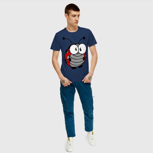 Мужская футболка хлопок Божья коровка Фото 01