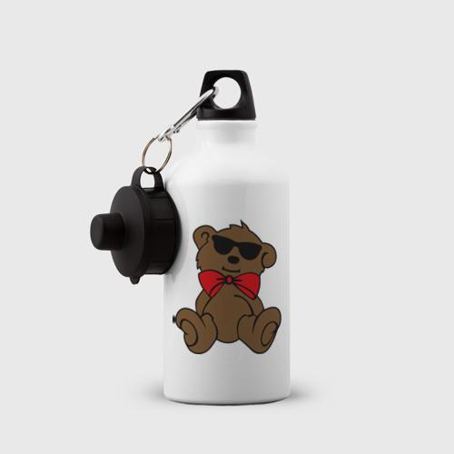 Бутылка спортивная  Фото 03, Плюшевый мишка в очках