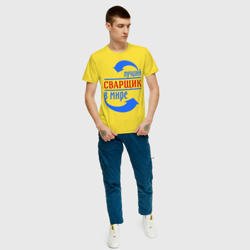 Мужская футболка хлопок Лучший сварщик в мире Фото 01