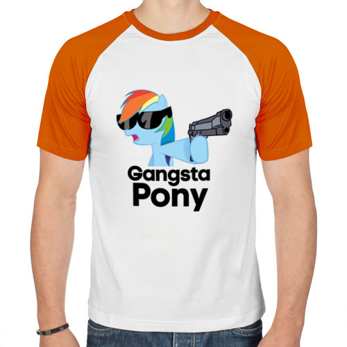Мужская футболка реглан  Фото 01, Gangsta pony
