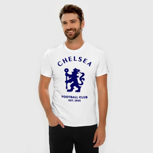 Мужская футболка премиум Челси Футбольный клуб Chelsea Фото 01