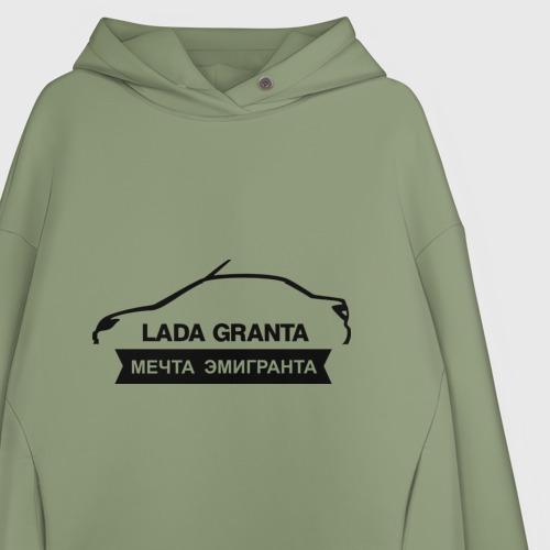Женское худи Oversize хлопок LADA GRANTA Фото 01