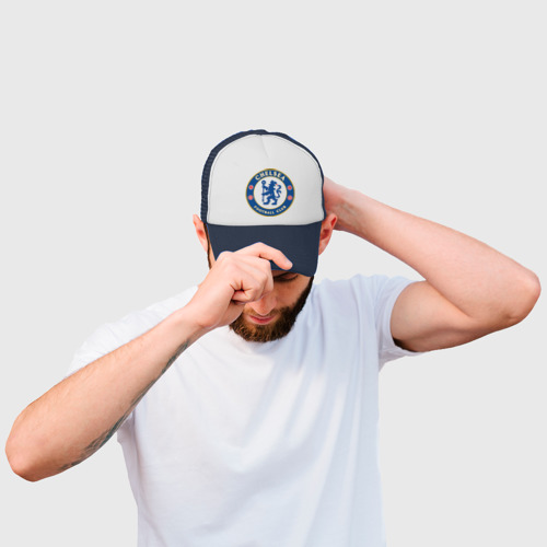 Кепка тракер с сеткой Chelsea logo Фото 01