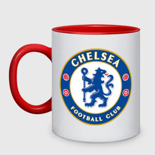 Кружка двухцветная Chelsea logo