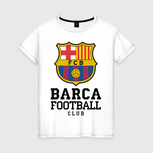 Женская футболка хлопок Barcelona FC
