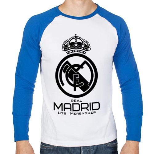 Мужская футболка реглан с длинным рукавом Real Madrid от Всемайки