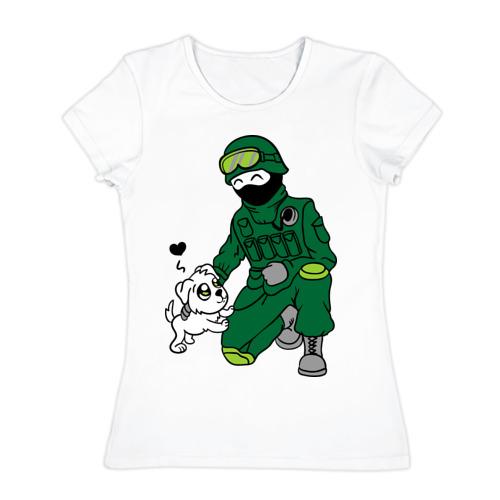 Женская футболка хлопок Вежливый человек